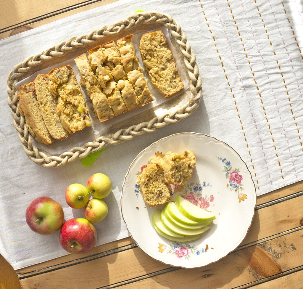 Apple Bread - sliced overhead