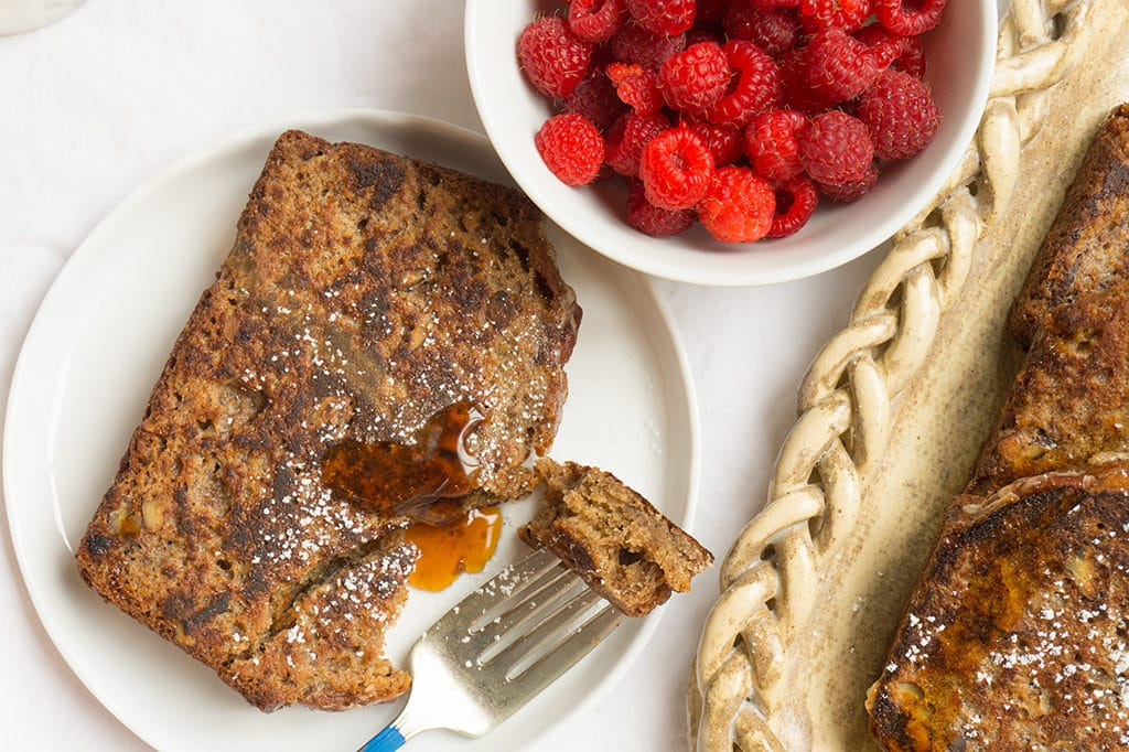 Pumpkin Spice Banana Bread French Toast