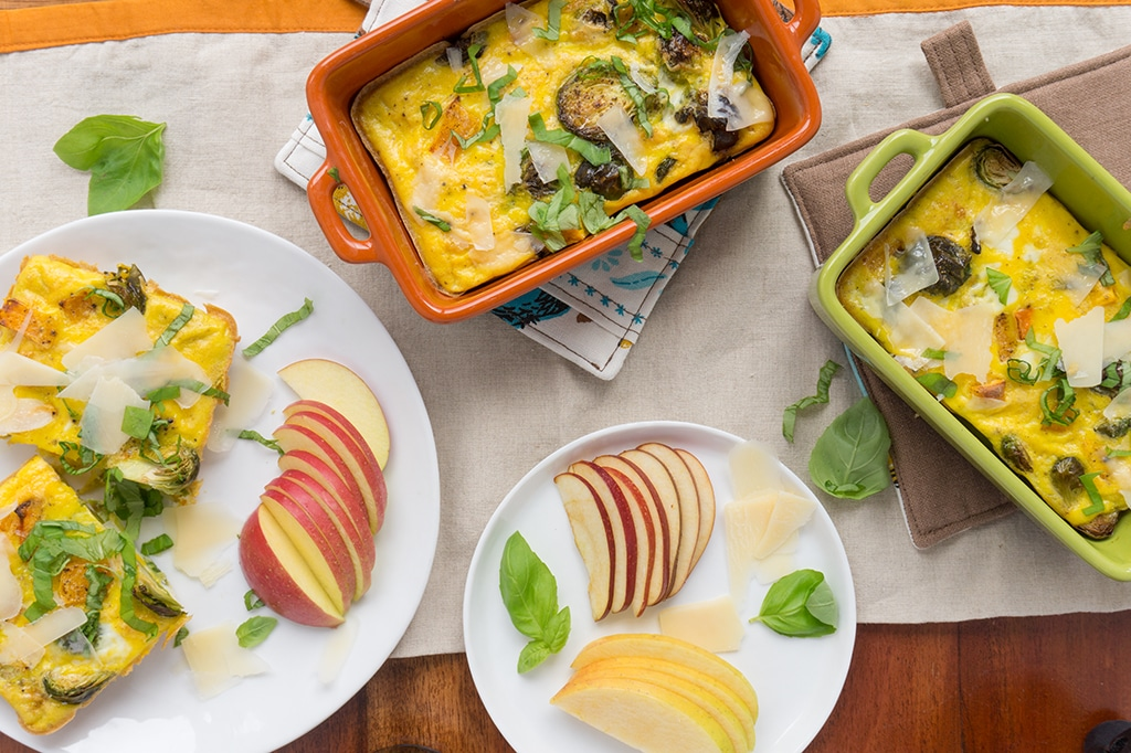Fall Vegetable Egg Casserole after baking