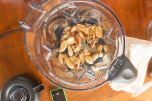 nuts in blender