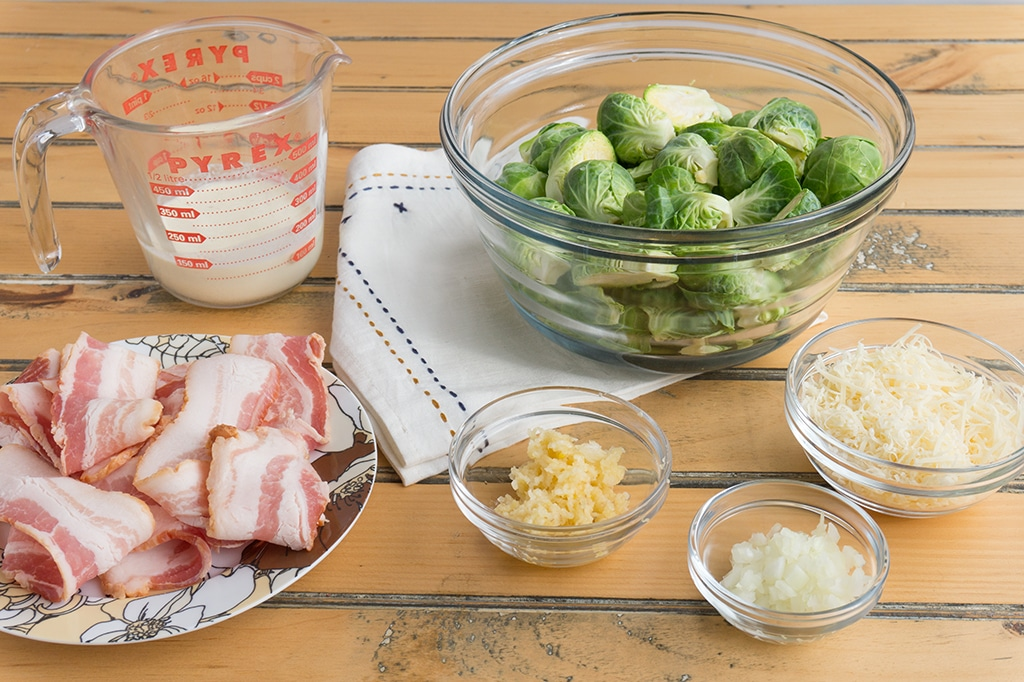 Bacon Brussels Sprouts ingredients