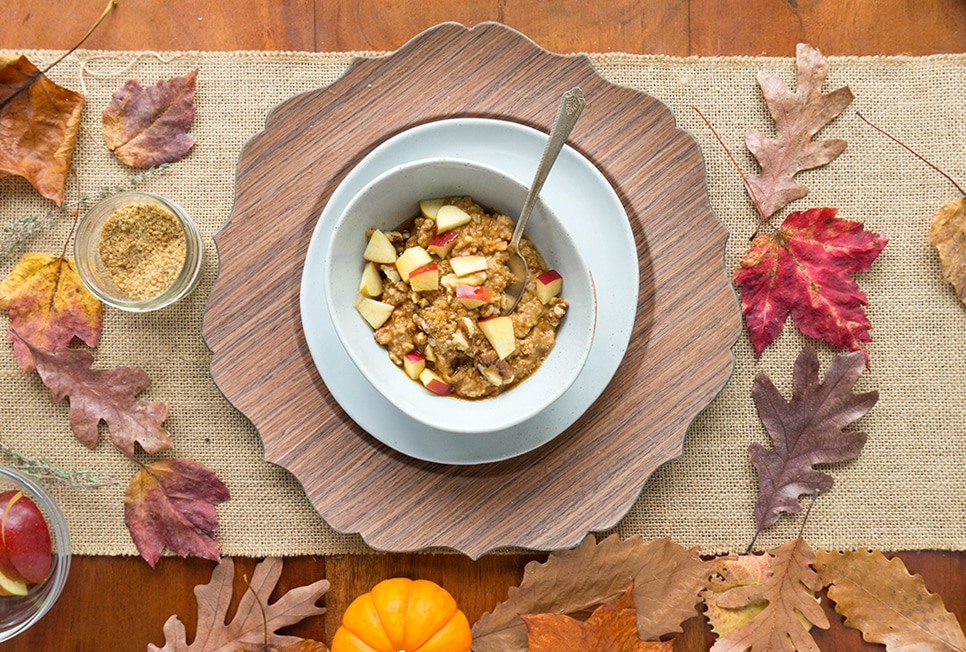 Maple Pumpkin Oatmeal overhead