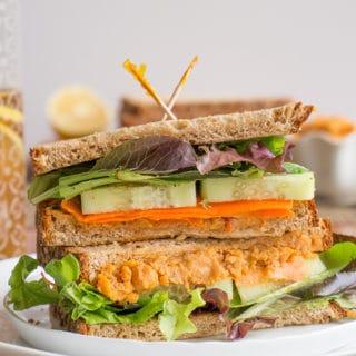 Spicy Roasted Chickpeas + A Veggie Sandwich