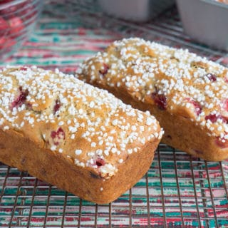 Cranberry Walnut Bread Topped with Pearl Sugar