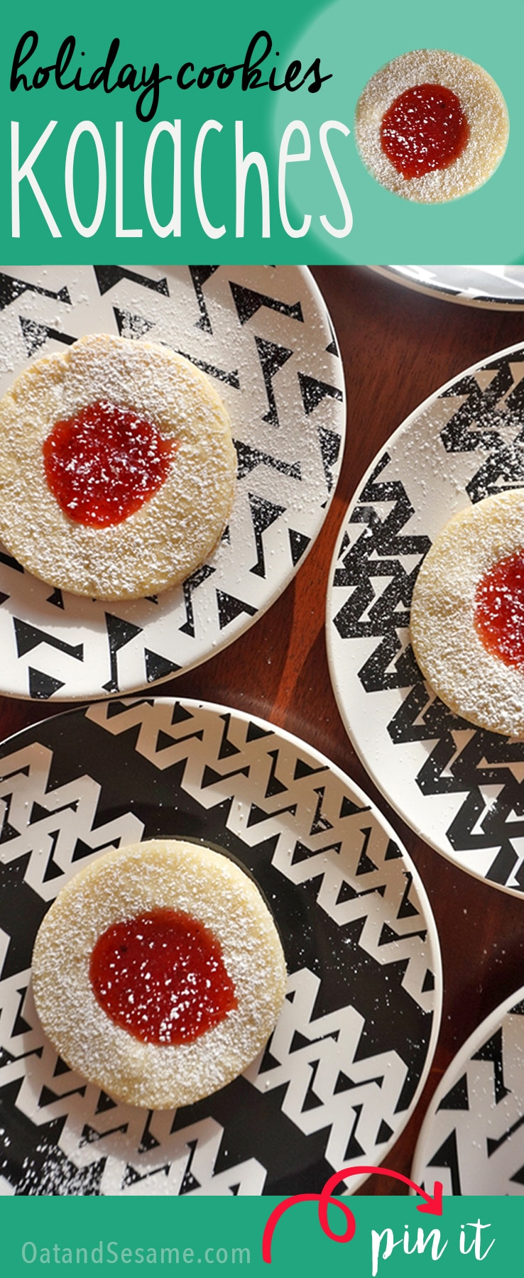 jam filled cookies with powdered sugar