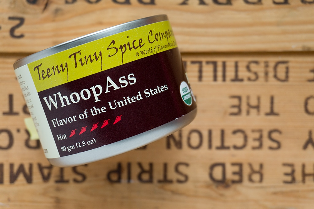 Teeny Tiny Spice Company can of Whoop Ass