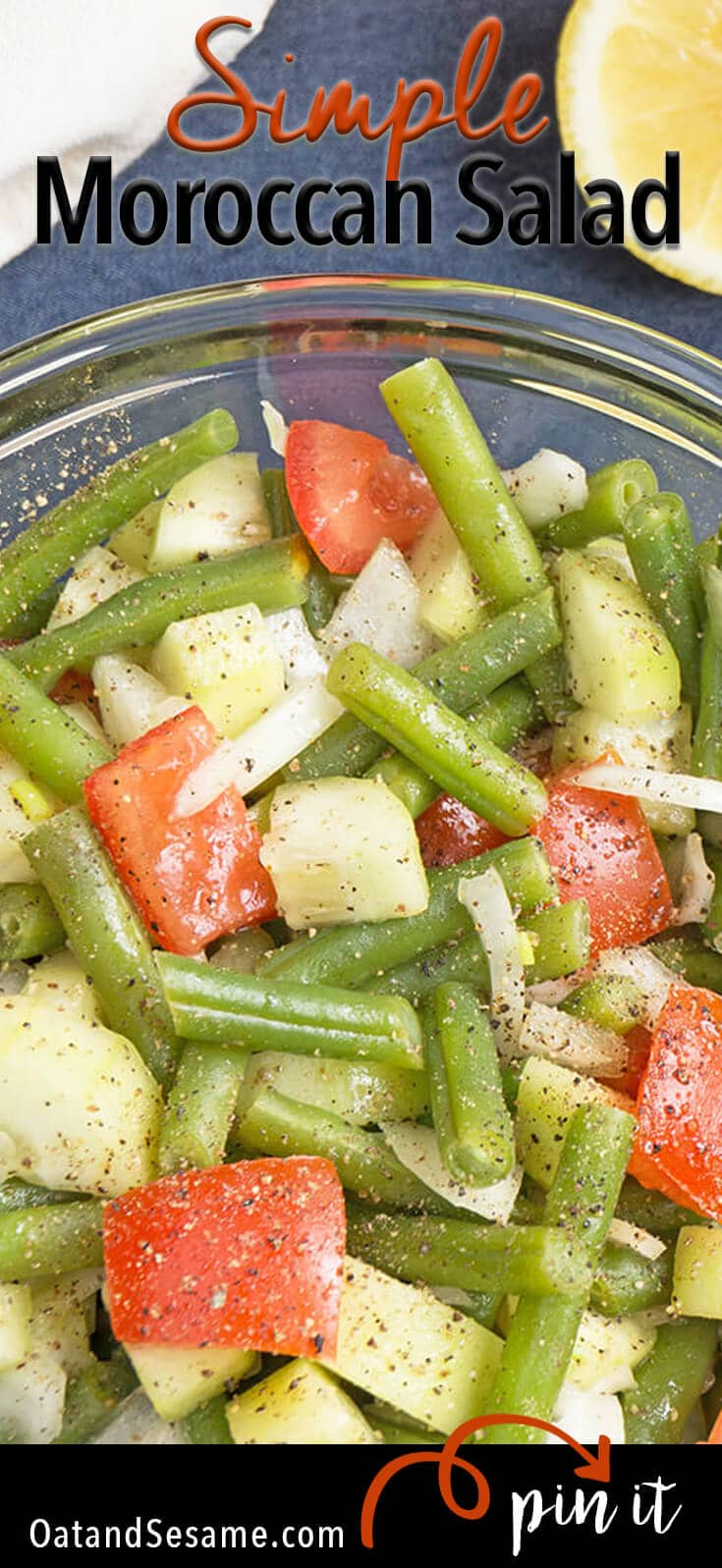 Green Bean and Tomato Moroccan Salad