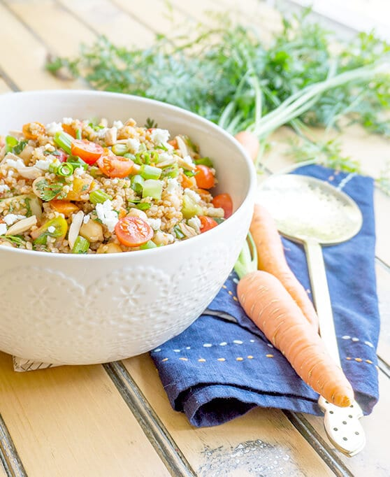 Turkish Bulgur Wheat Salad with Tomatoes and Cucumbers vertical