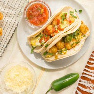 Tater Tot Breakfast Tacos