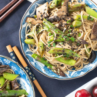 5 Minute Sesame Noodle Bowl with Spring Veggies