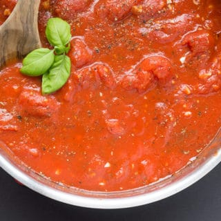 Easy Homemade Tomato Sauce in pan
