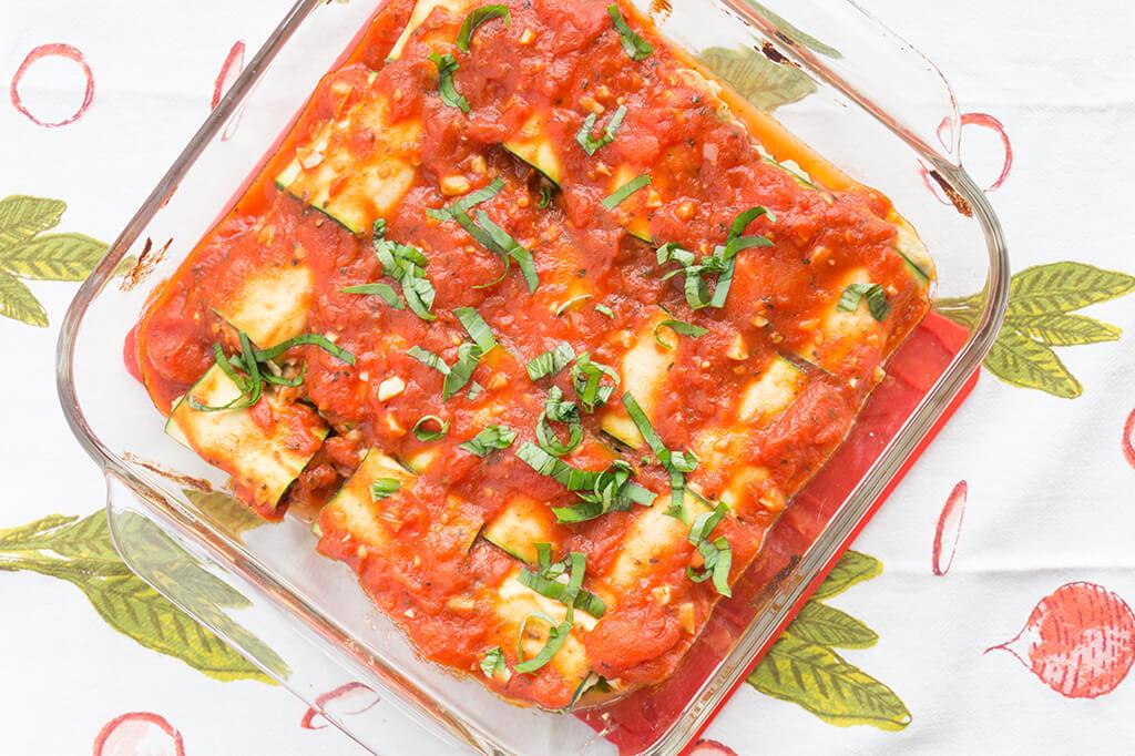 Zucchini Lasagna overhead
