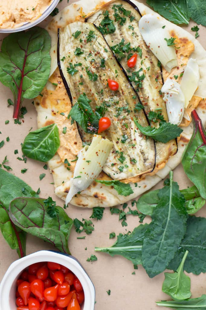 Vegetable Hummus Wraps vertical view