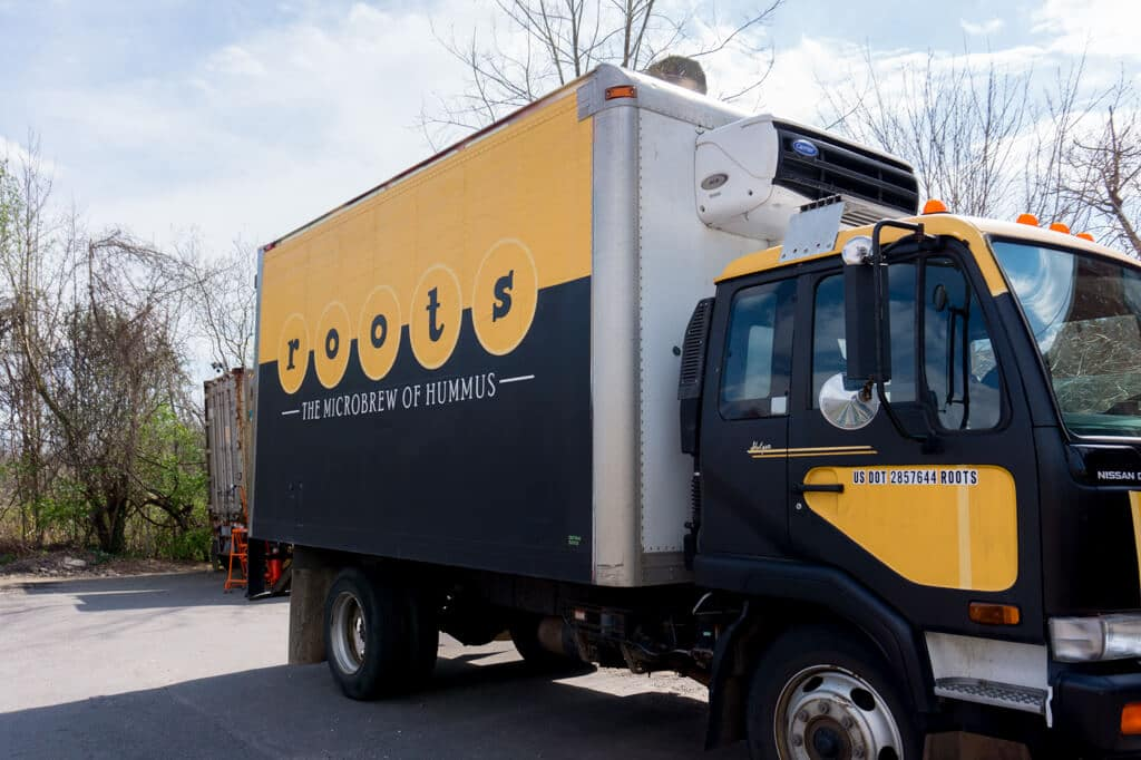 Roots Hummus delivery truck