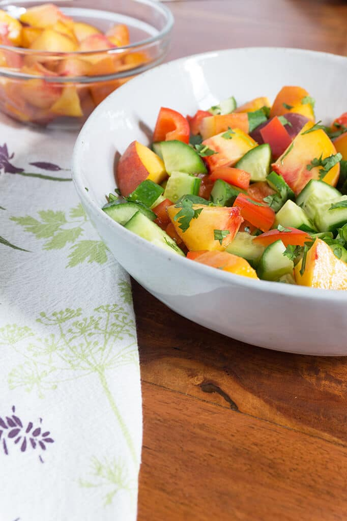 salad in bowl vertical