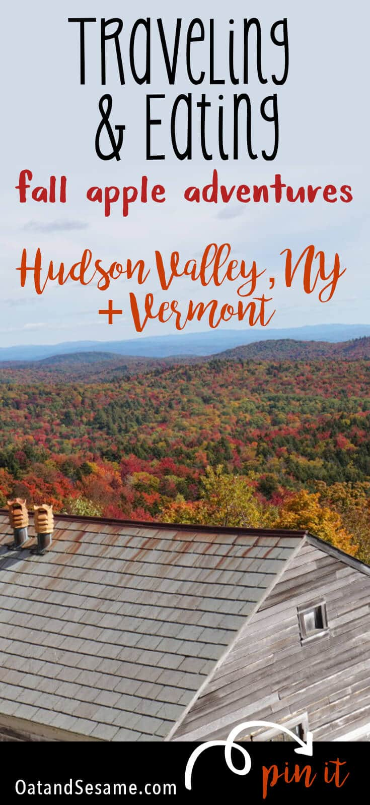 The best apple picking adventures in the Hudson Valley + Vermont! So many heirlooms! Including a healthy recipe for delicious Apple Walnut Cookies! | COOKIES | APPLES | HEIRLOOM | FALL | TRAVEL | Recipe at OatandSesame.com