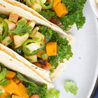 Vegetarian Tacos with Black Beans and Butternut Squash