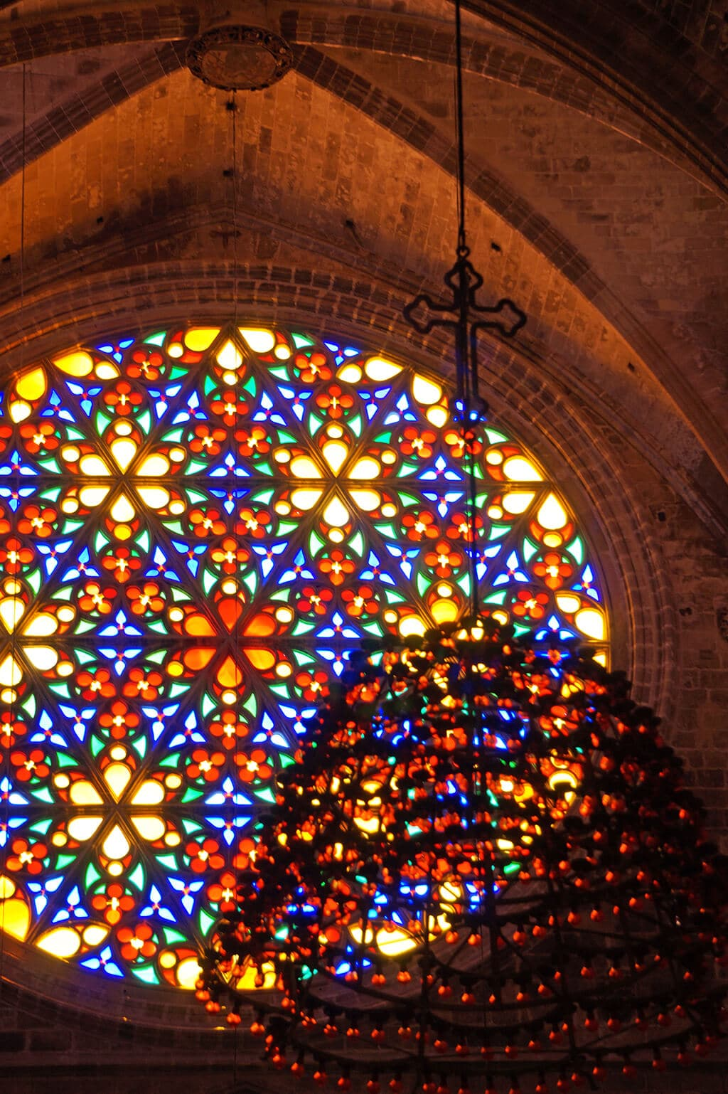 stained glass Palma Cathedral