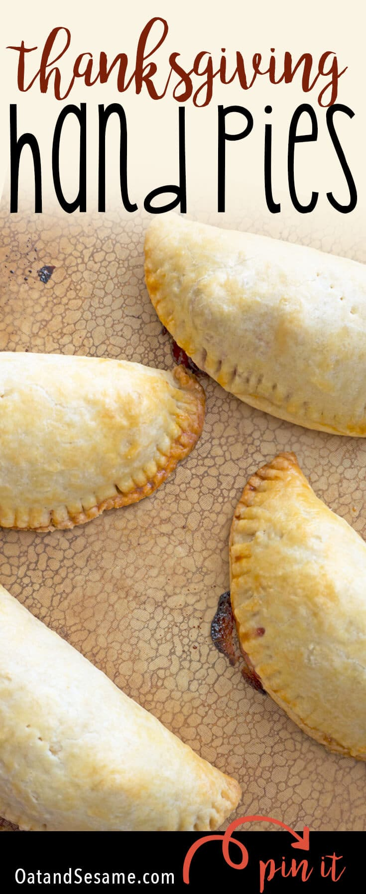 Thanksgiving Hand Pies are stuffed with all the leftover ingredients from Thanksgiving! One simple step before Thanksgiving will have you prepped and ready to roll these out and load them up with everything you've got left! | #THANKSGIVING | #LEFTOVERS | #HANDPIES | #Recipes at OatandSesame.com