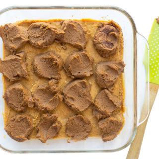 Vegan Pumpkin Pie Bars - batter before swirl
