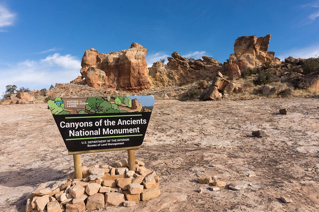 Entrance to Canyons of the Ancients National Monument