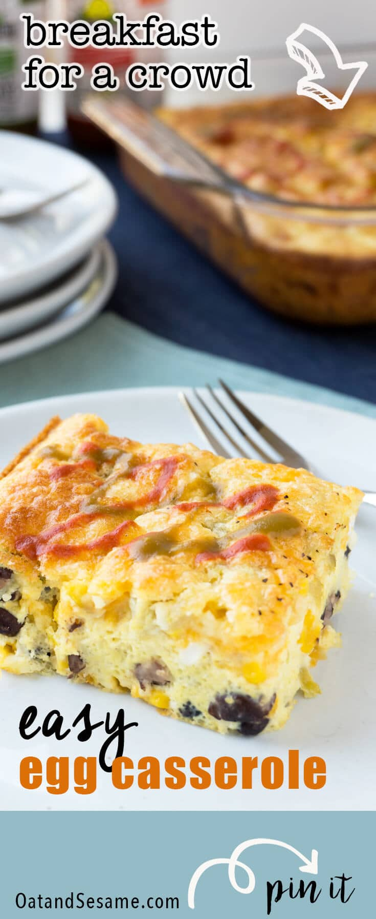 Strata, breakfast casserole, savoury french toast bake or bread pudding. It doesn't matter what you call this, it's totally delish and can be made ahead so it's great for feeding a crowd!