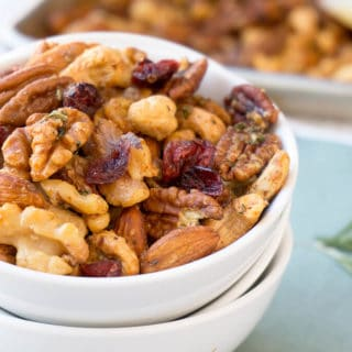 Sweet and Spicy Holiday Nut Mix