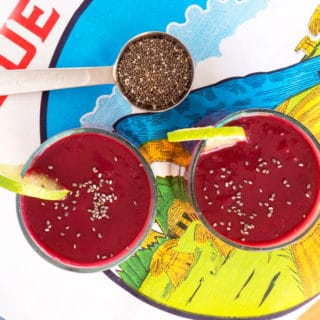 Cherry Lime Beet Smoothie with Chia Seeds