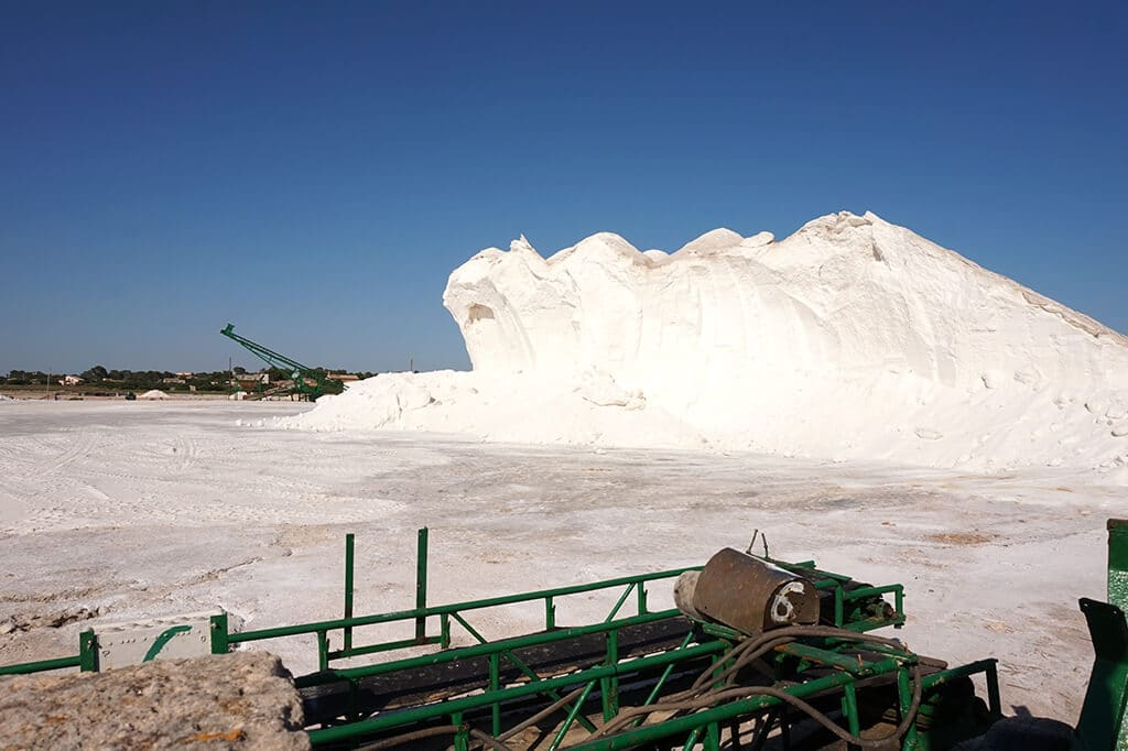 Huge pile of sea salt