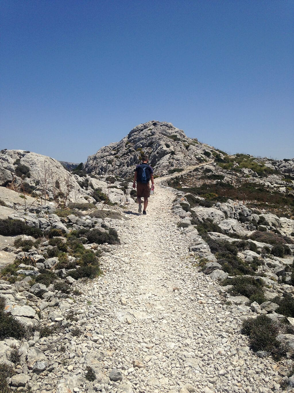 Rocky hiking path in Mallorca