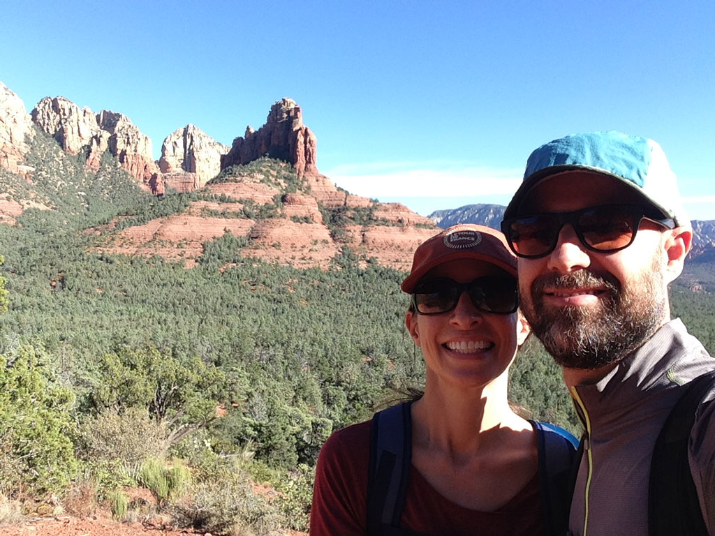 Emily and Jeremy in Sedona