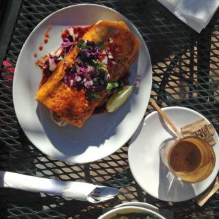 Burrito at Indian Garden Cafe
