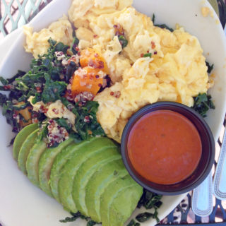 Quinoa Kale Breakfast Bowl at Indian Gardens