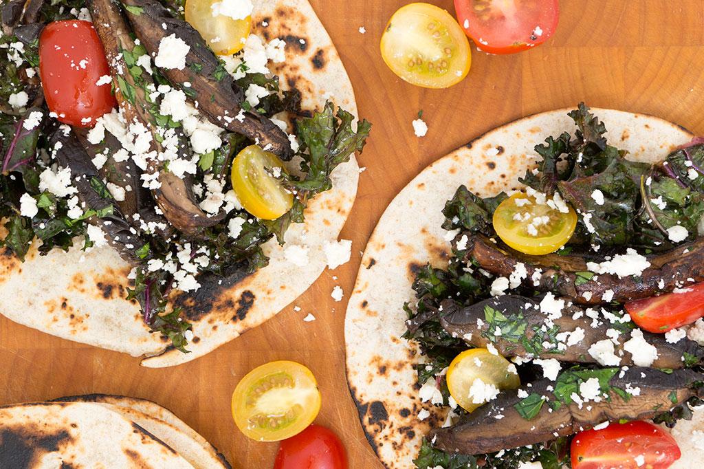 Portabello Mushroom Tacos Overhead