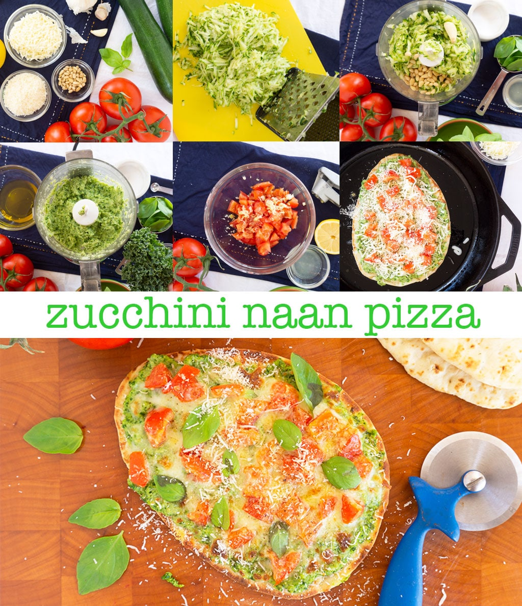 Step by Step Photos for Making Naan Pizza