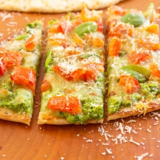 Zucchini Naan Pizza sliced