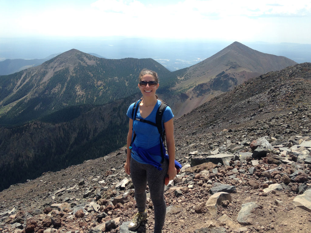 Emily on top of Mt. Humphrey, Flagstaff, AZ