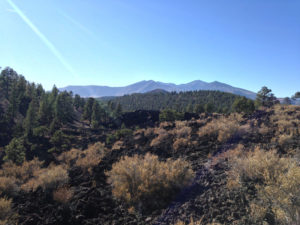 volcanic field sunset crater