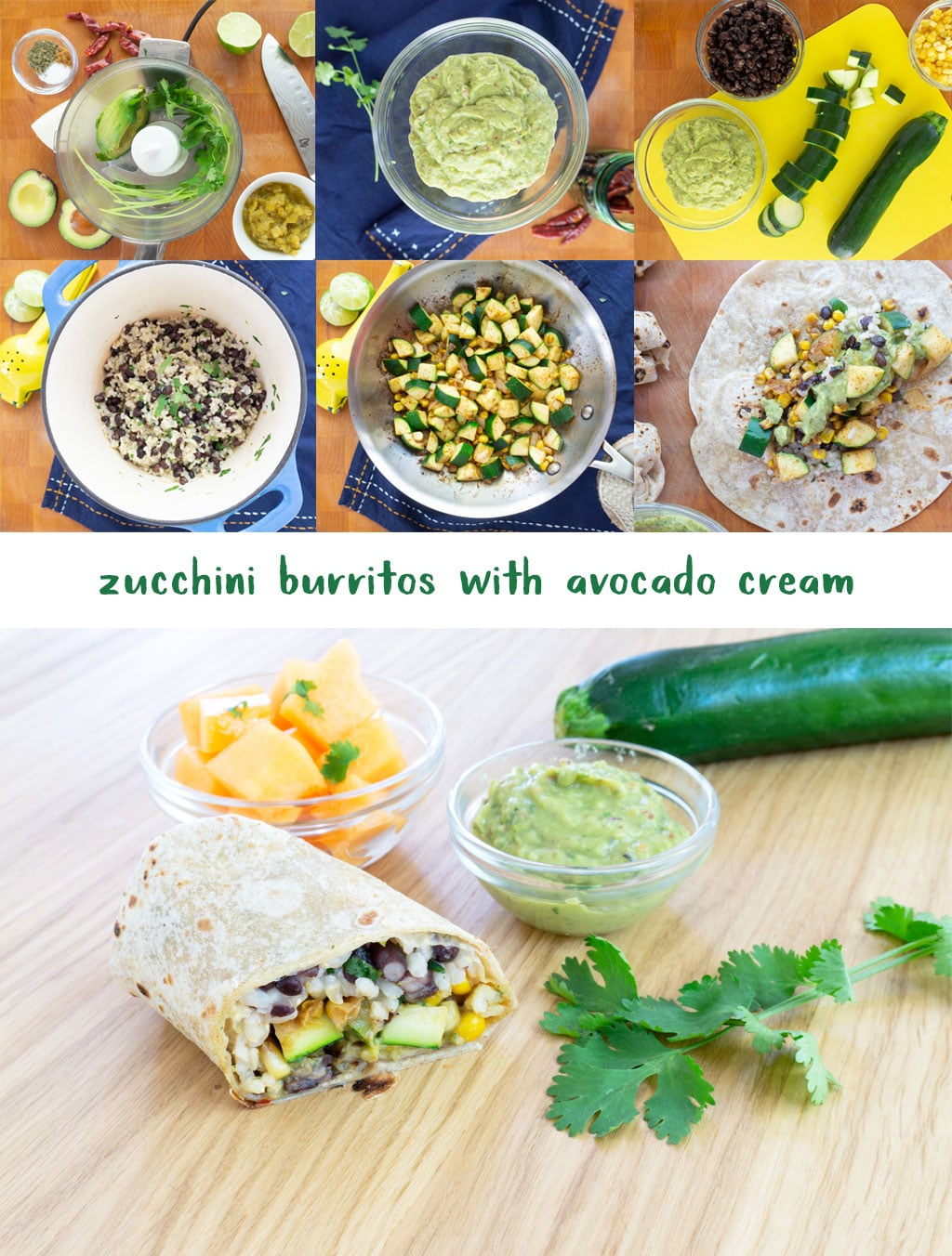 Step by Step instructions for making Zucchini Burritos