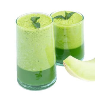 Sweet Melon Juice Smoothie with Fresh Mint
