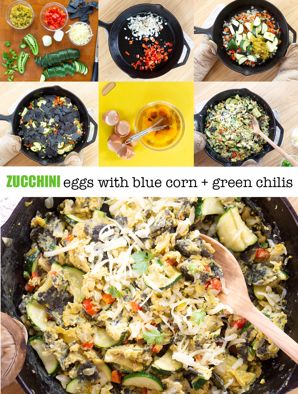 Step by Step Photos for how to make Zucchini Breakfast Eggs
