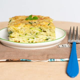 slice of baked zucchini pie