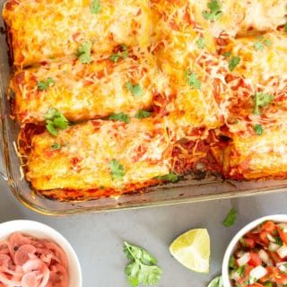Chicken and Spinach Burritos – Enchilada Style