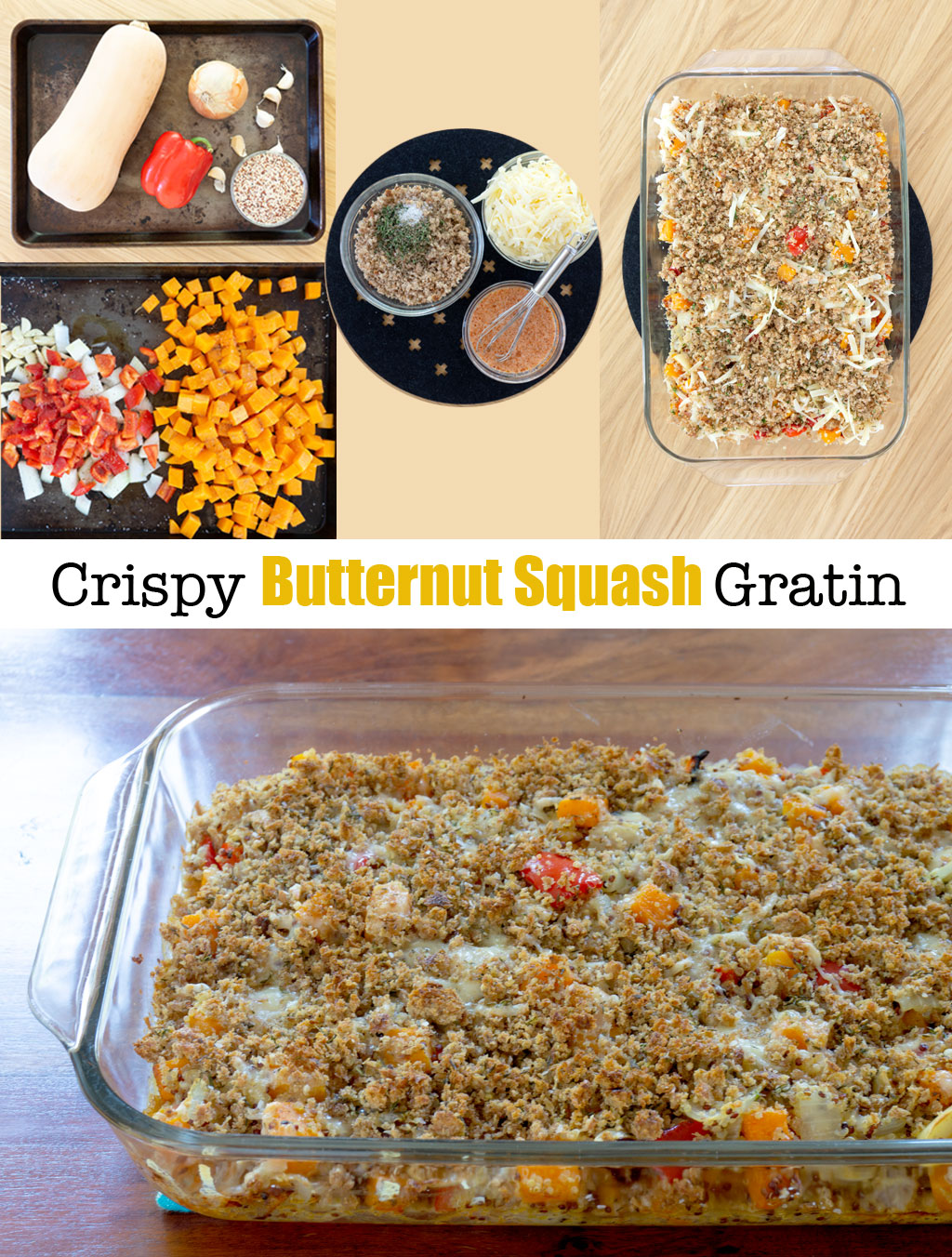 Step by Step Photos for making Butternut Squash Gratin