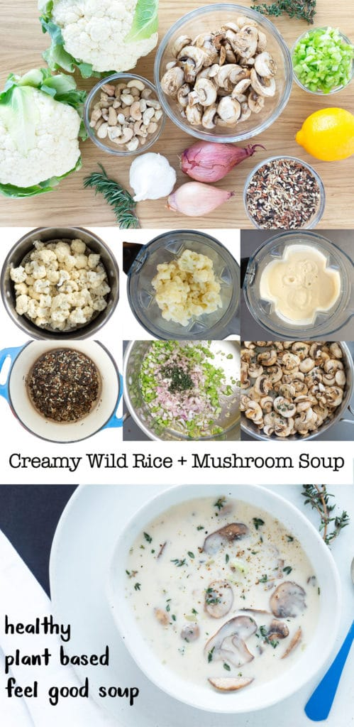 Step by Step Photos for making Creamy Wild Rice and Mushroom Soup
