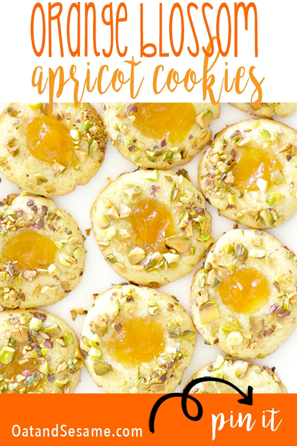 Orange Blossom Apricot Pistachio Cookies