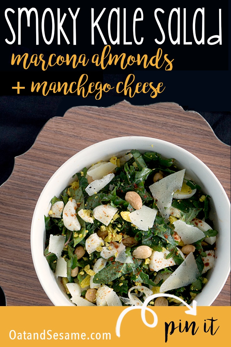 Kale salad with marcona almonds