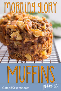 healthy morning glory muffins - pinterest image