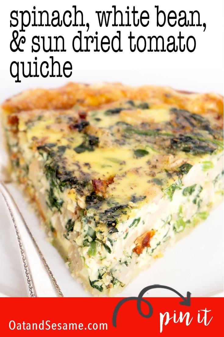 slice of quiche