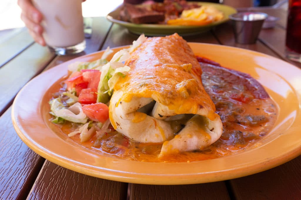 breakfast burrito on plate